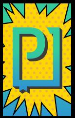 PressPad logo comic book